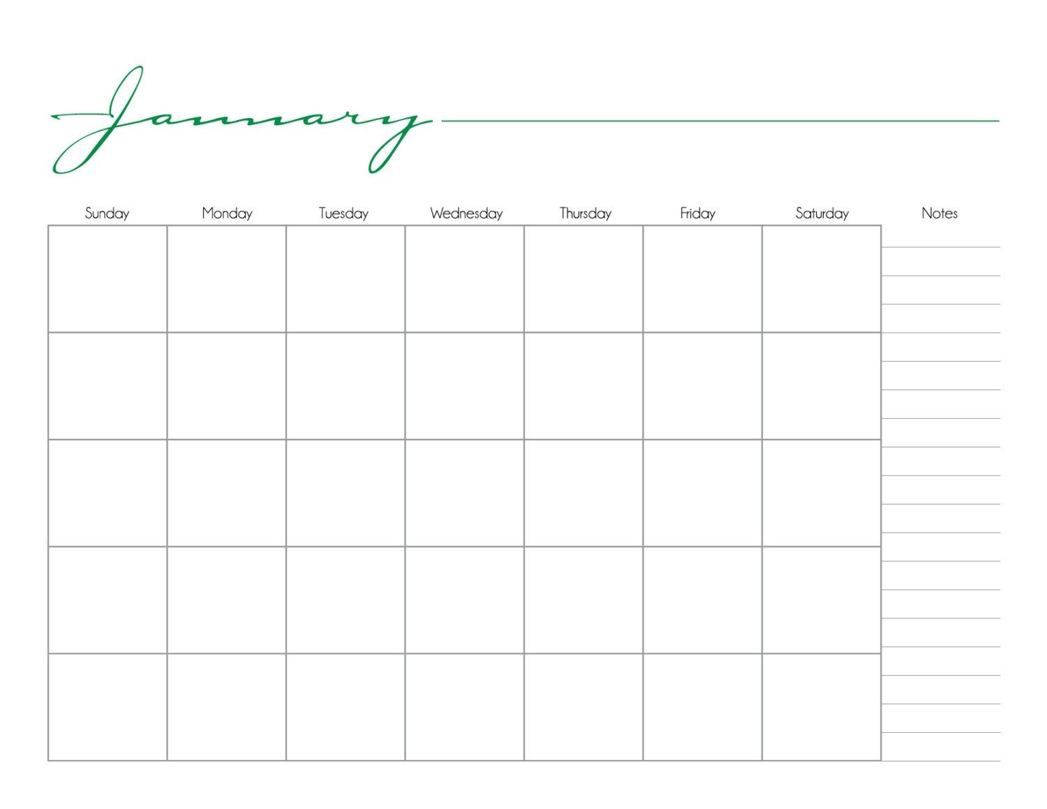 Whimsical Printable Monthly Calendar No Date / By Calendar Template Without Dates