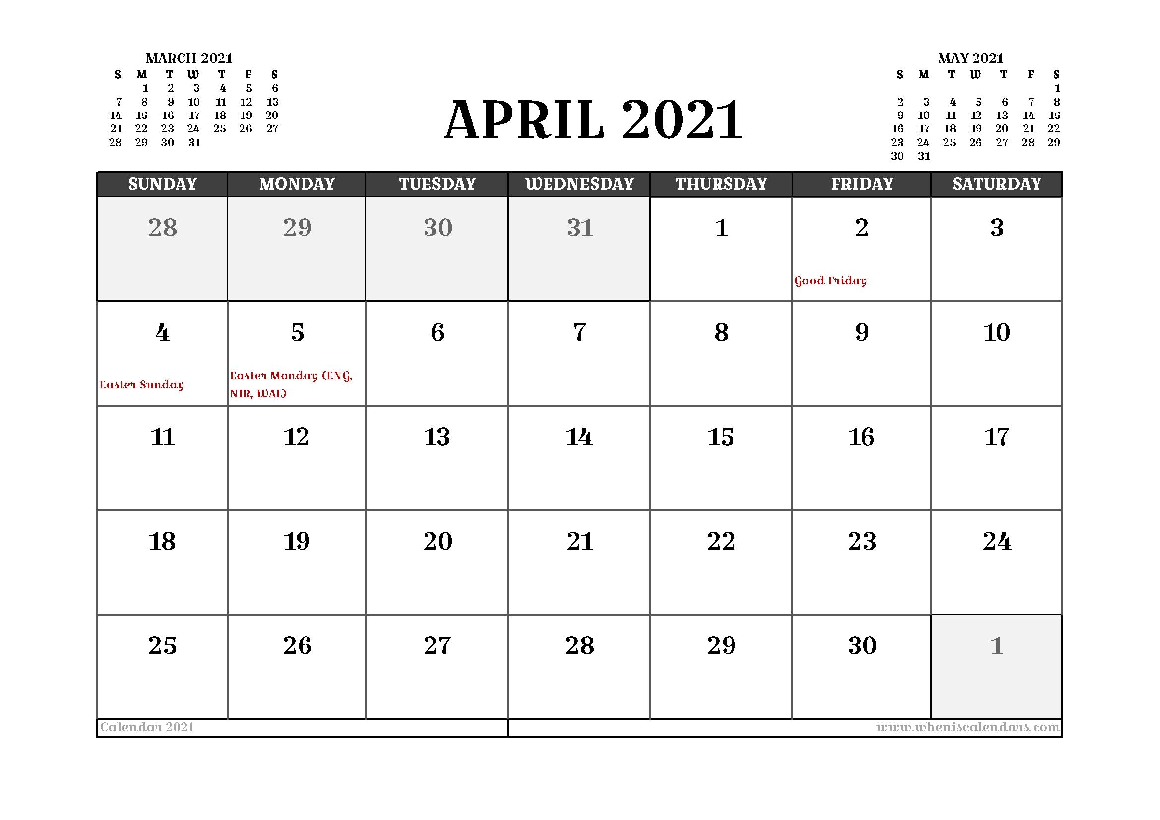 20+ Calendar 2021 Easter - Free Download Printable Calendar Templates ️ September 2021 Calendar Printable Wiki