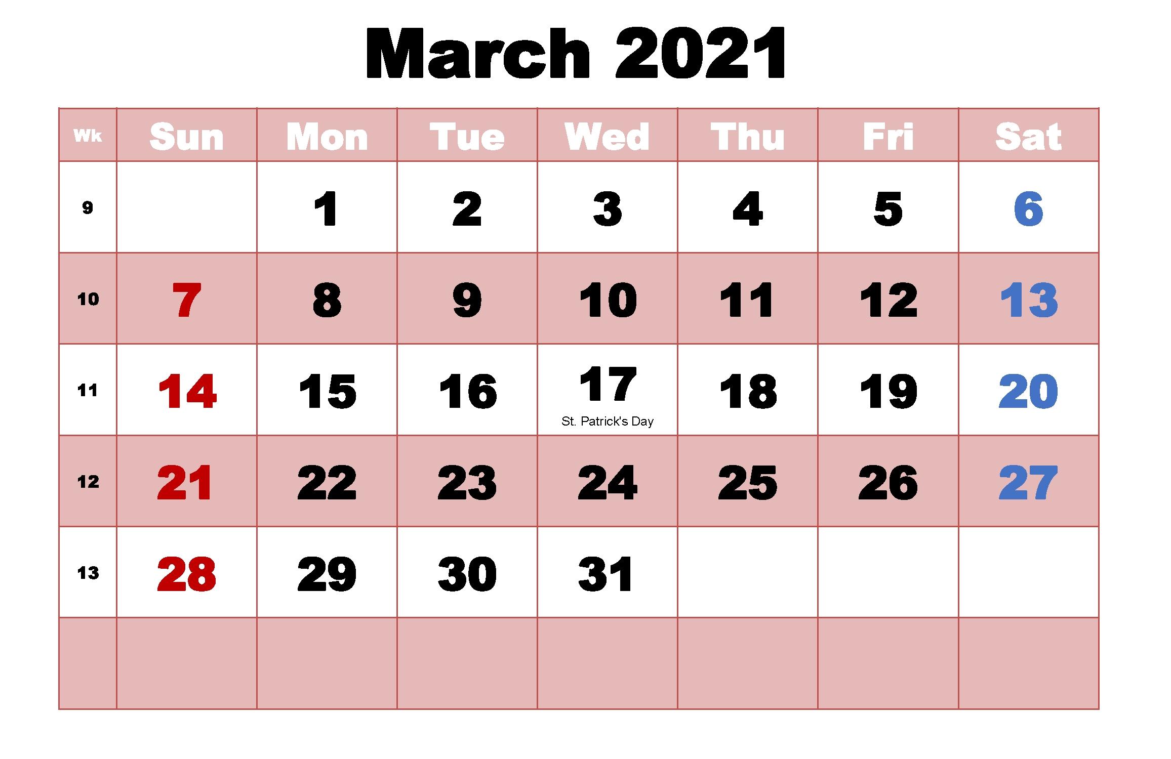 20+ Calendar 2021 March - Free Download Printable Calendar Templates ️ Show Me July 2021 Calendar