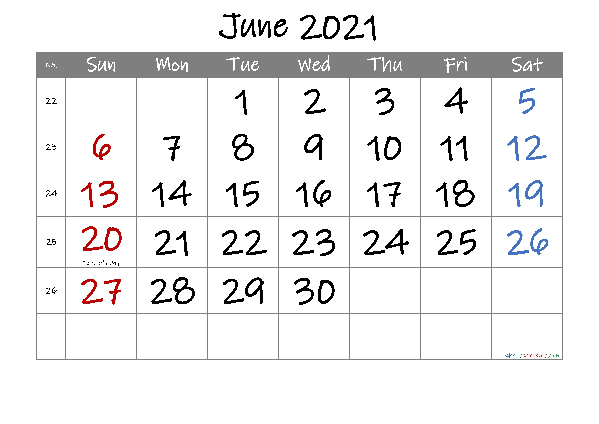 20+ June 2021 Calendar - Free Download Printable Calendar Templates ️ Editable June 2021 Calendar