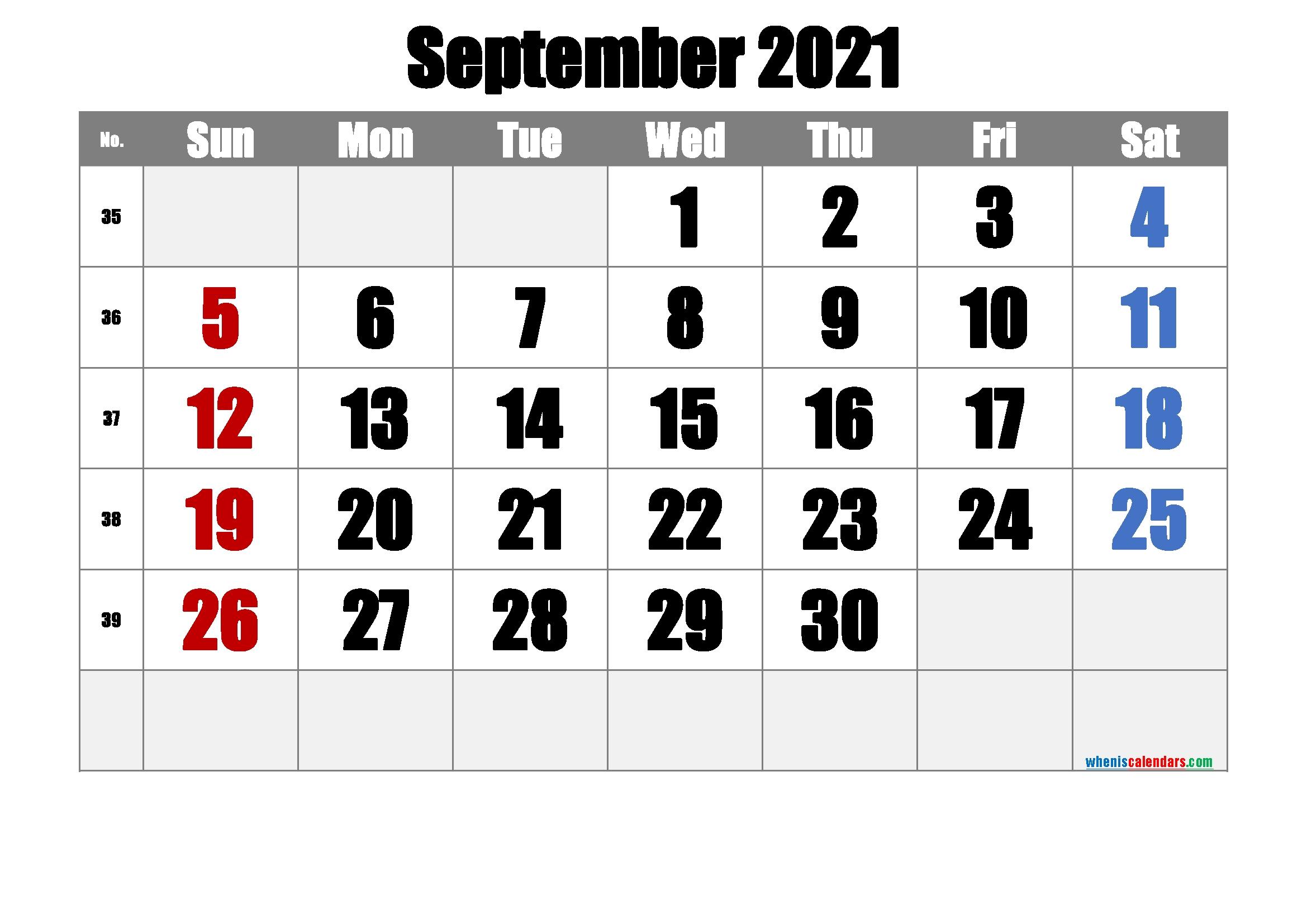 20+ September 2021 Calendar - Free Download Printable Calendar Templates ️ September 2021 Calendar Kalnirnay