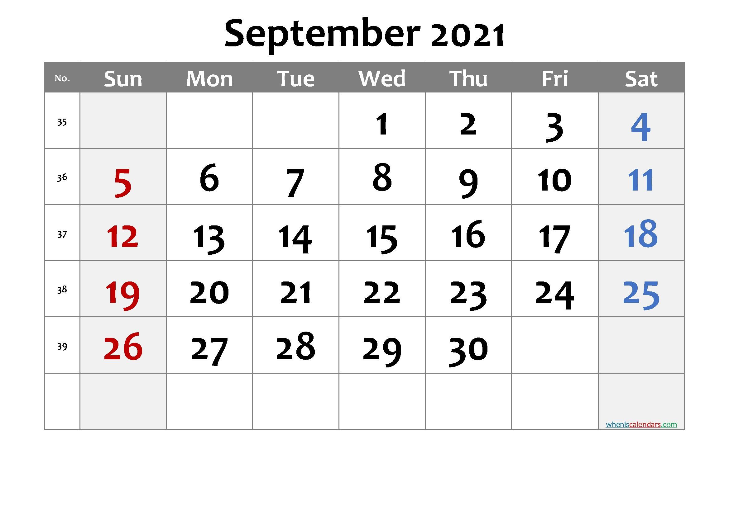 20+ September 2021 Calendar - Free Download Printable Calendar Templates ️ September 2021 Lunar Calendar