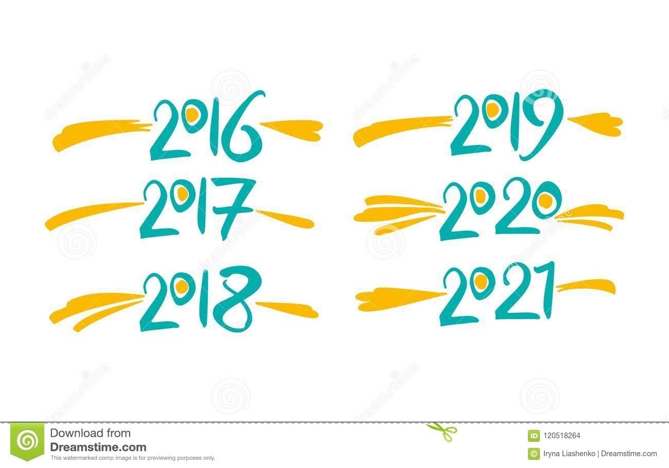 2016 - 2021 Calendar Black Text On A White Background Vector Illustration | Cartoondealer June 2021 Calendar Clipart