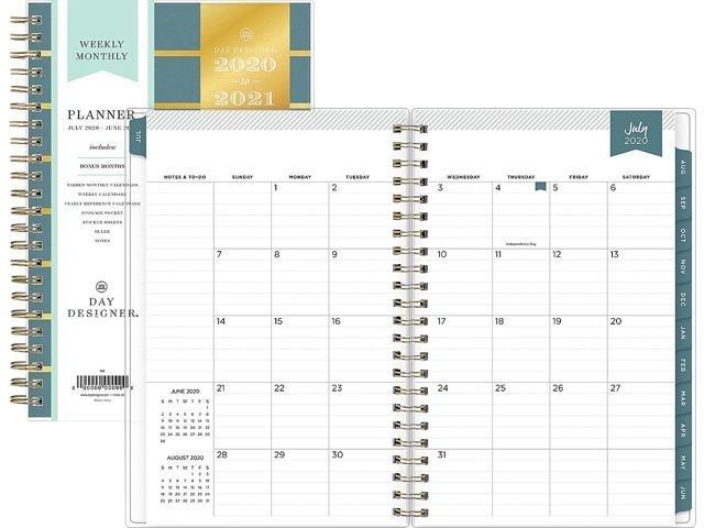 2020-2021 Blue Sky 5 X 8 Planner, Day Designer 118319 - Newegg Blue Sky Calendar July 2020-June 2021