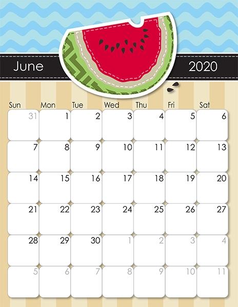 2020 Whimsical Printable Calendar For Moms - Imom | June Calendar Printable, Calendar Printables June 2021 Calendar Clipart