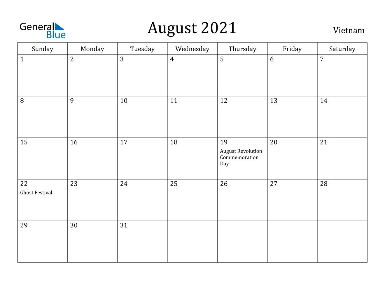 2021 Calendar August Festival | 2022 Calendar General Blue October 2021 Calendar