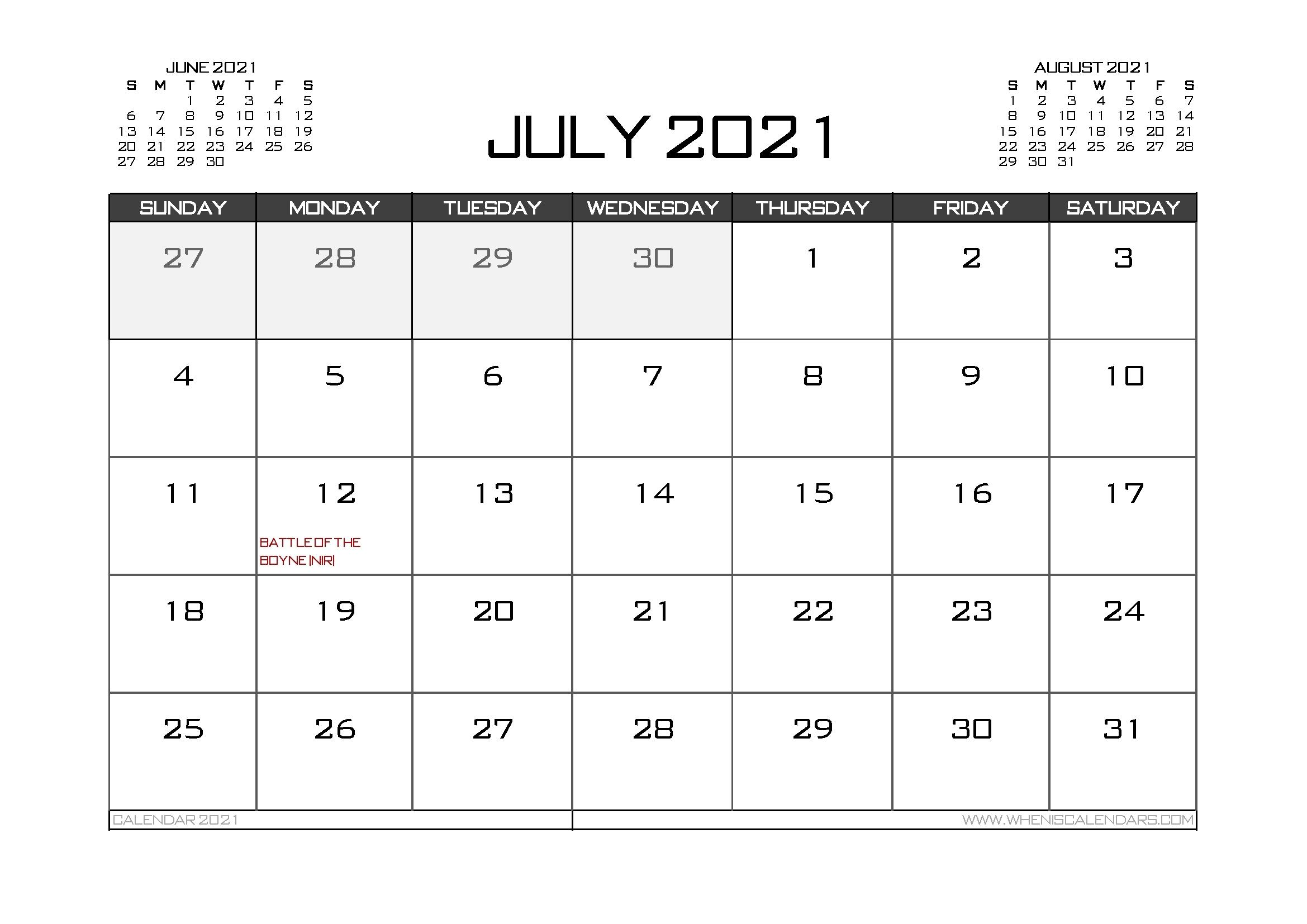 2021 Calendar Uk Printable   Calendar Template Printable July 2021 Tithi Calendar