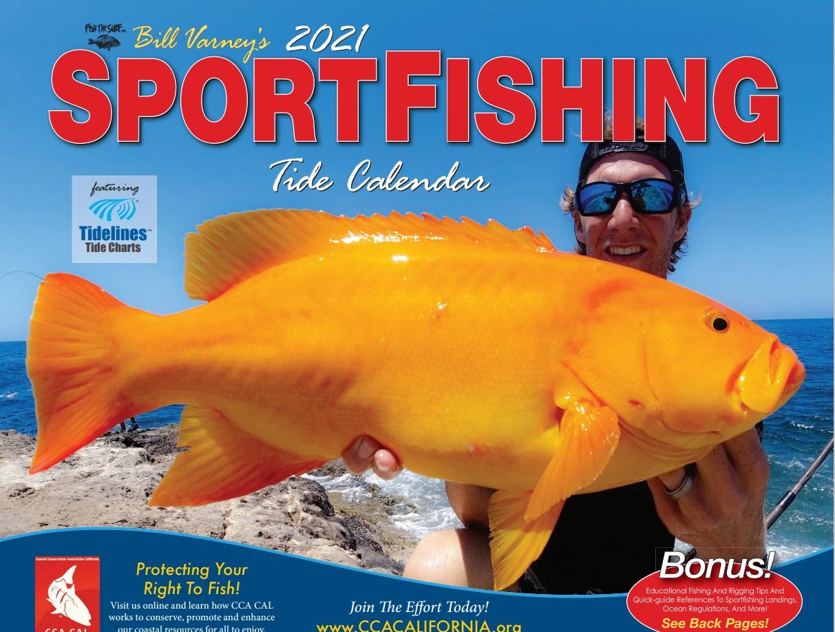 2021 Cca Cal Sportfishing Tide Calendar June 2021 Fishing Calendar