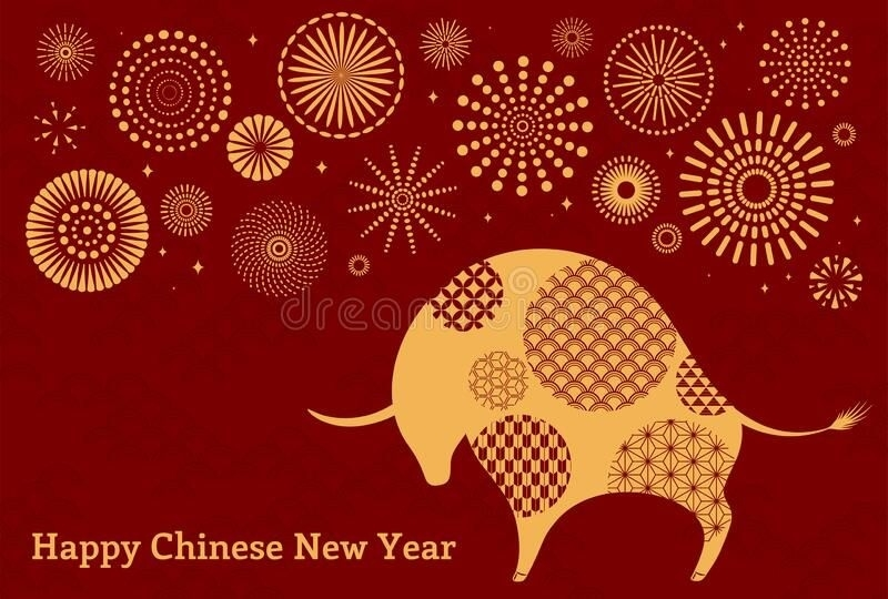 2021 Chinese New Year Ox Illustration. 2021 Chinese New Year Vector Illustration #Sponsored , # October 2021 Chinese Calendar
