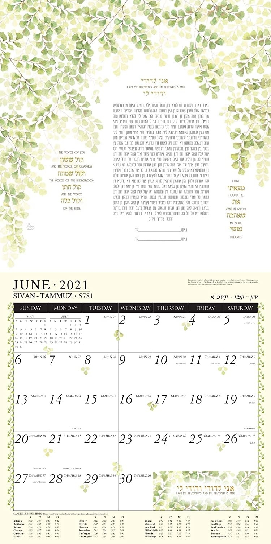 2021 Jewish Art Calendar By Mickie - Chichistormy Hebrew Calendar November 2021