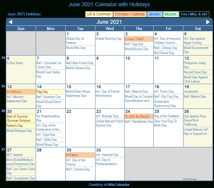 2021 June Calendar With Holidays   Printable March What Will Happen In June 2021