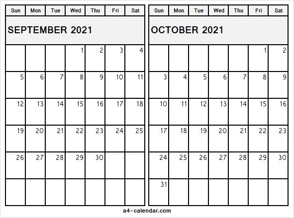 2021 September October Calendar Template - Sep Calendar 2021 Editable September And October 2021 Calendar