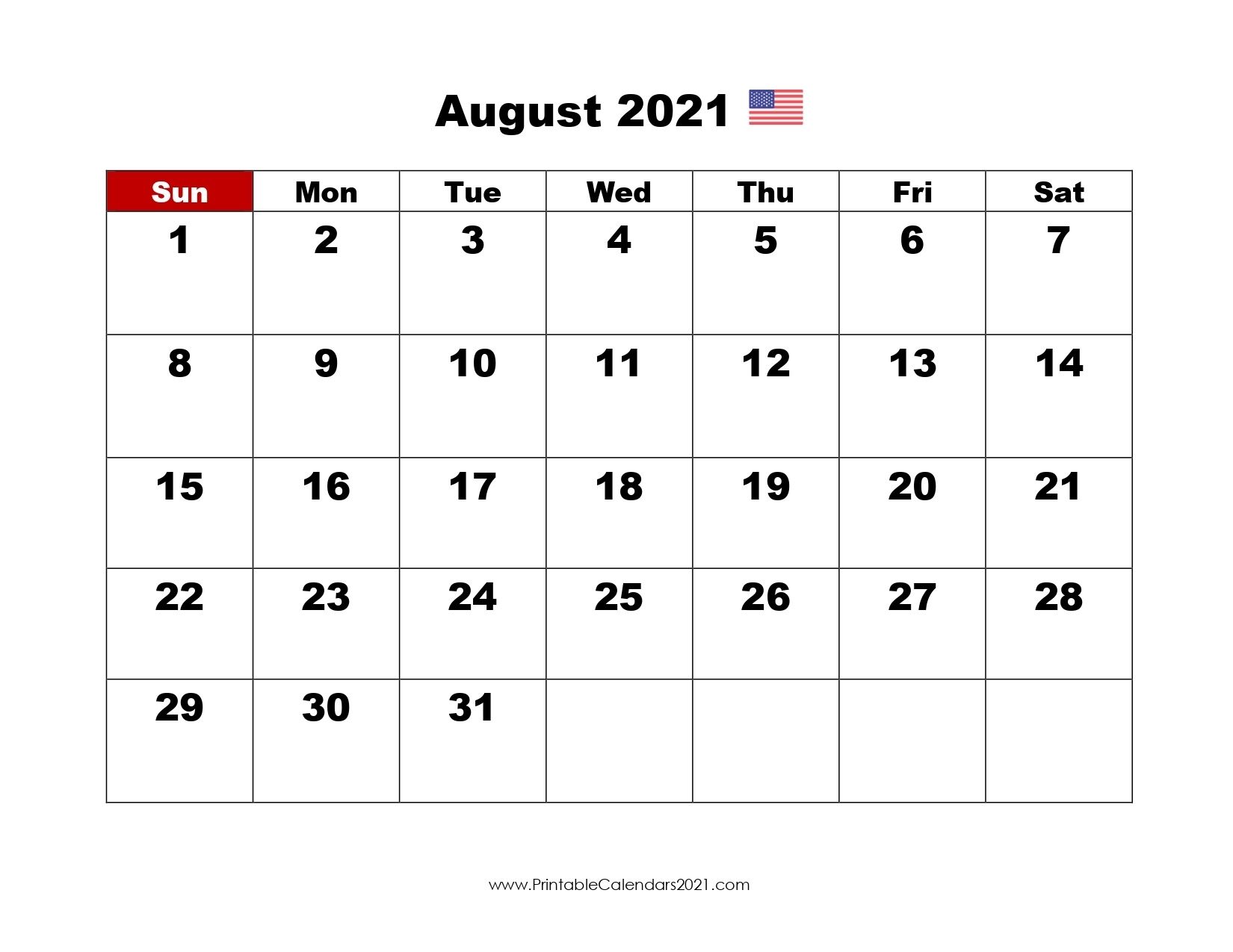 44+ August 2021 Calendar Printable, August 2021 Blank Calendar Pdf Blank August 2021 Calendar