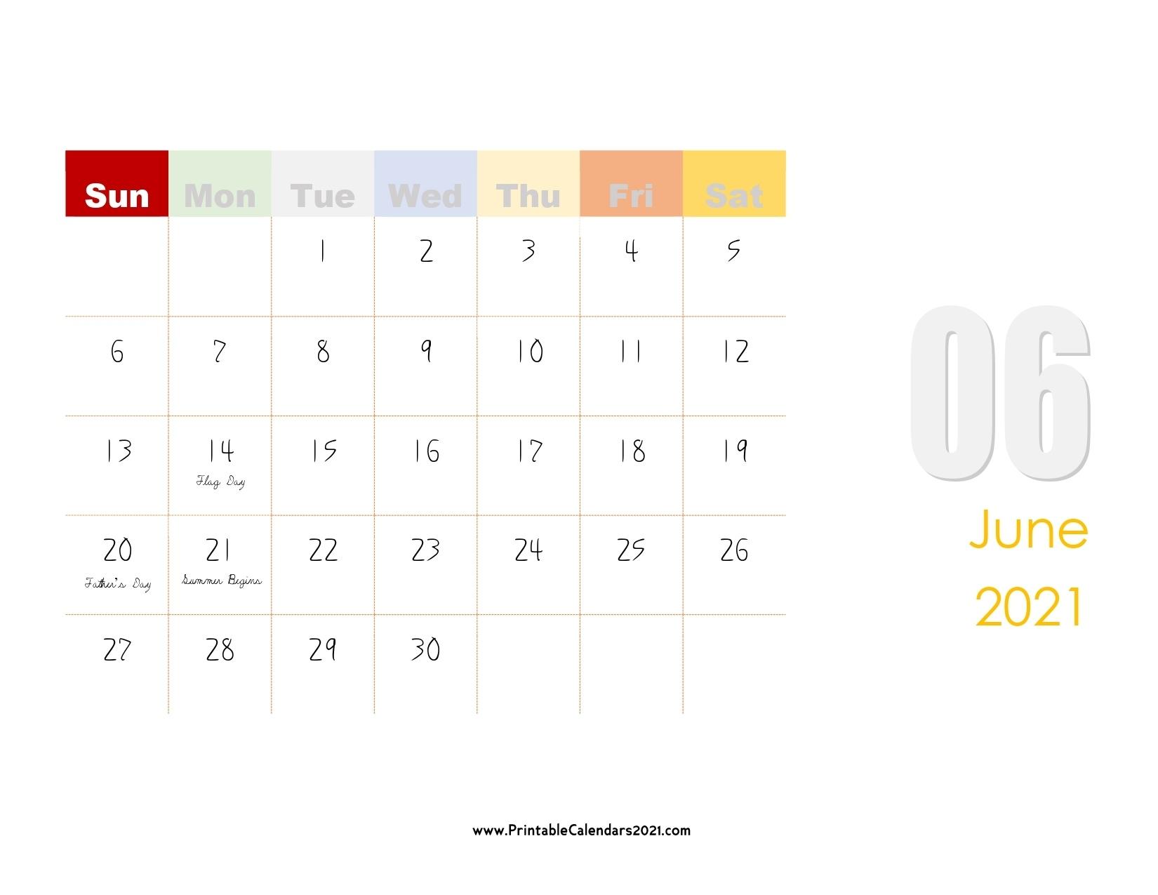 60+ Free June 2021 Calendar Printable With Holidays, Blank, Pdf June 2021 Calendar With Holidays Printable
