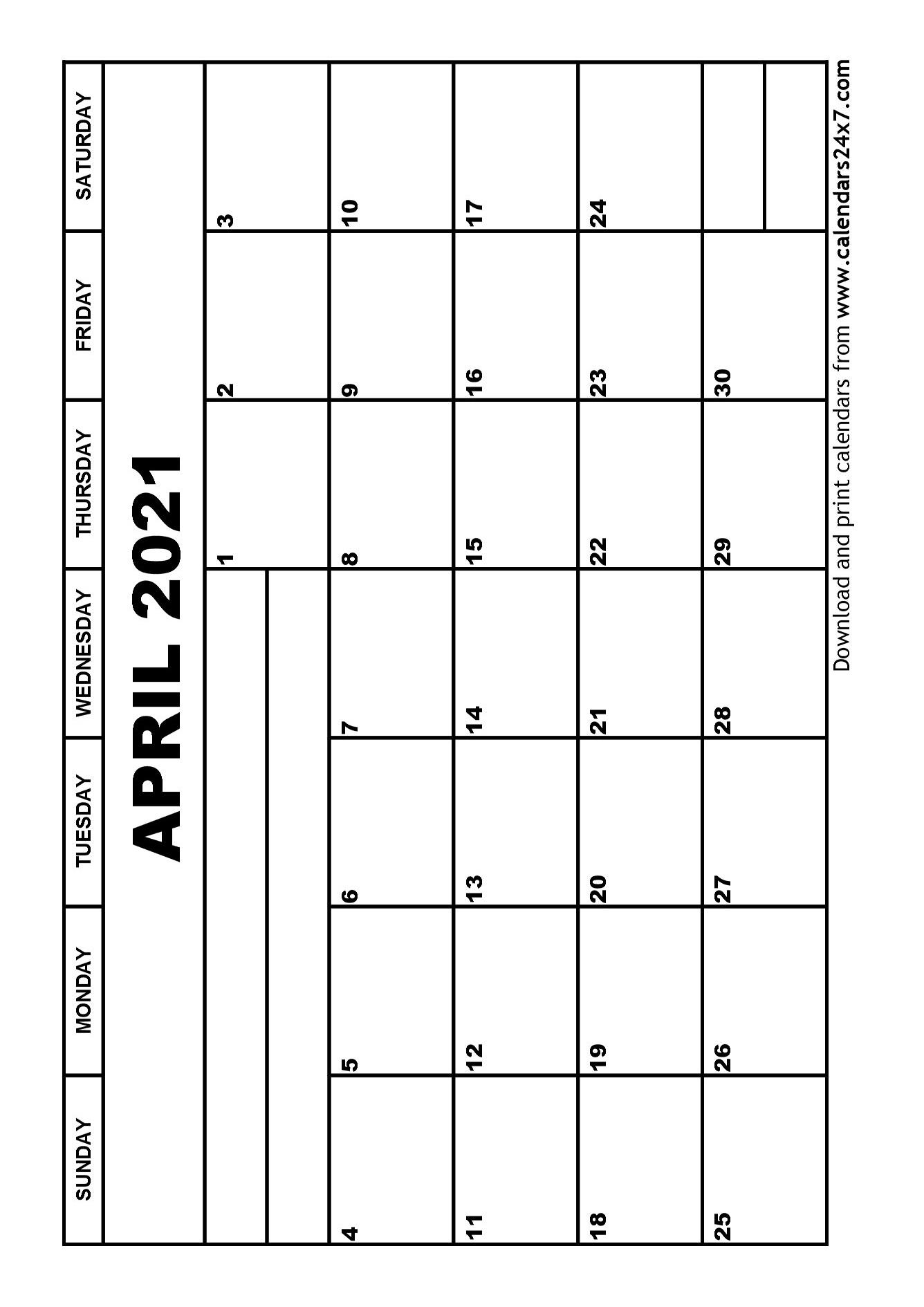 April 2021 Calendar & May 2021 Calendar April Through June 2021 Calendar