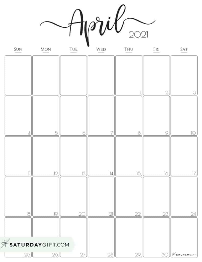 April Calendar 2021 Printable | Free Printable Calendar September 2021 Calendar Printable Wiki