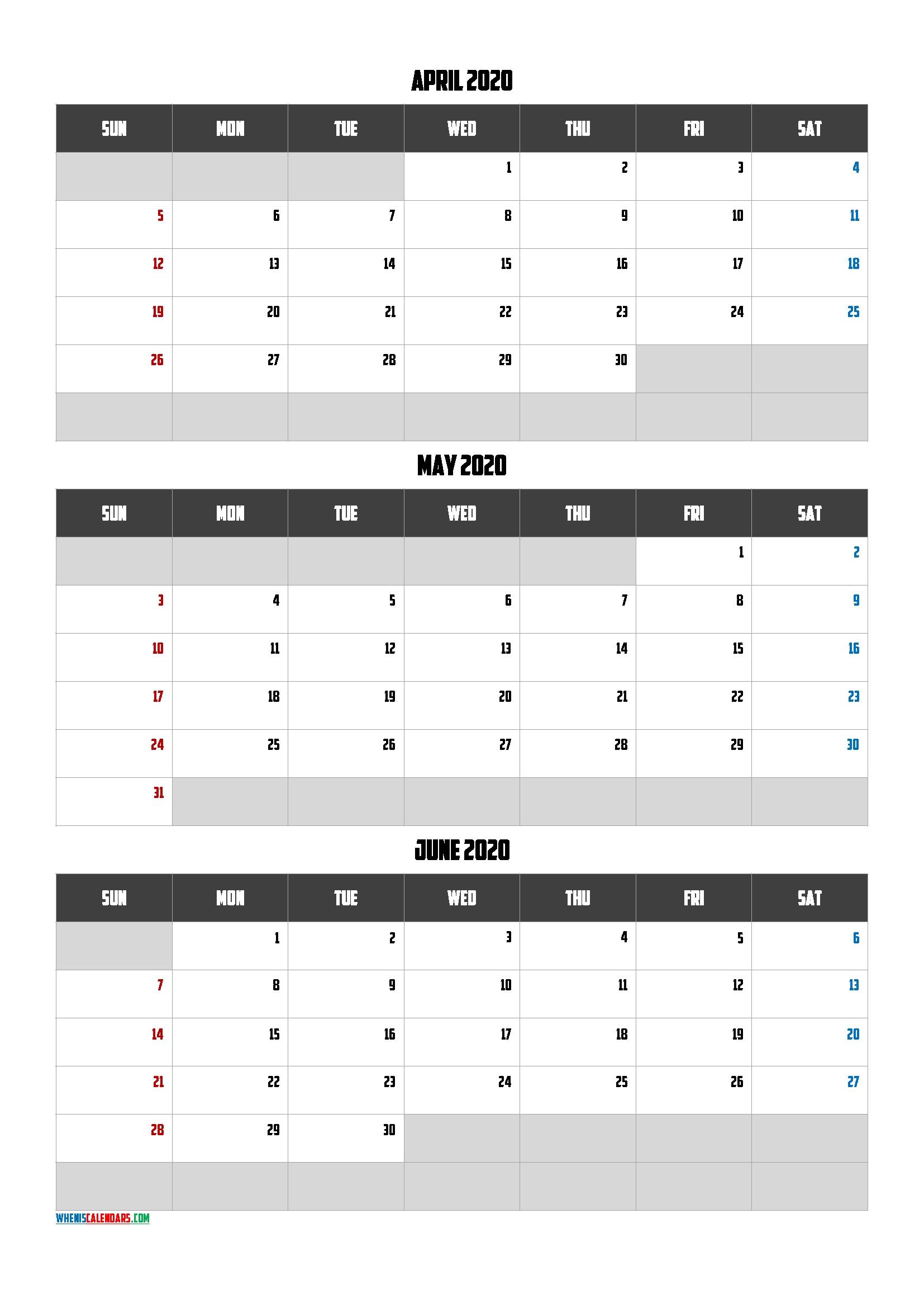 April May June 2021 Free Printable 3 Month Calendar-21Am2 Print April May June 2021 Calendar