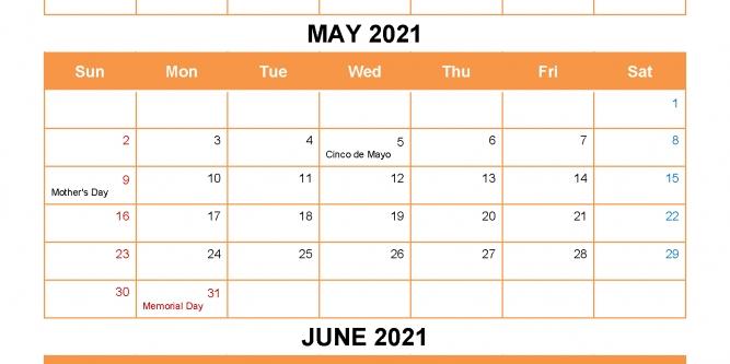 April May June 2021 Printable Calendar   Free Printable Calendar Print April May June 2021 Calendar