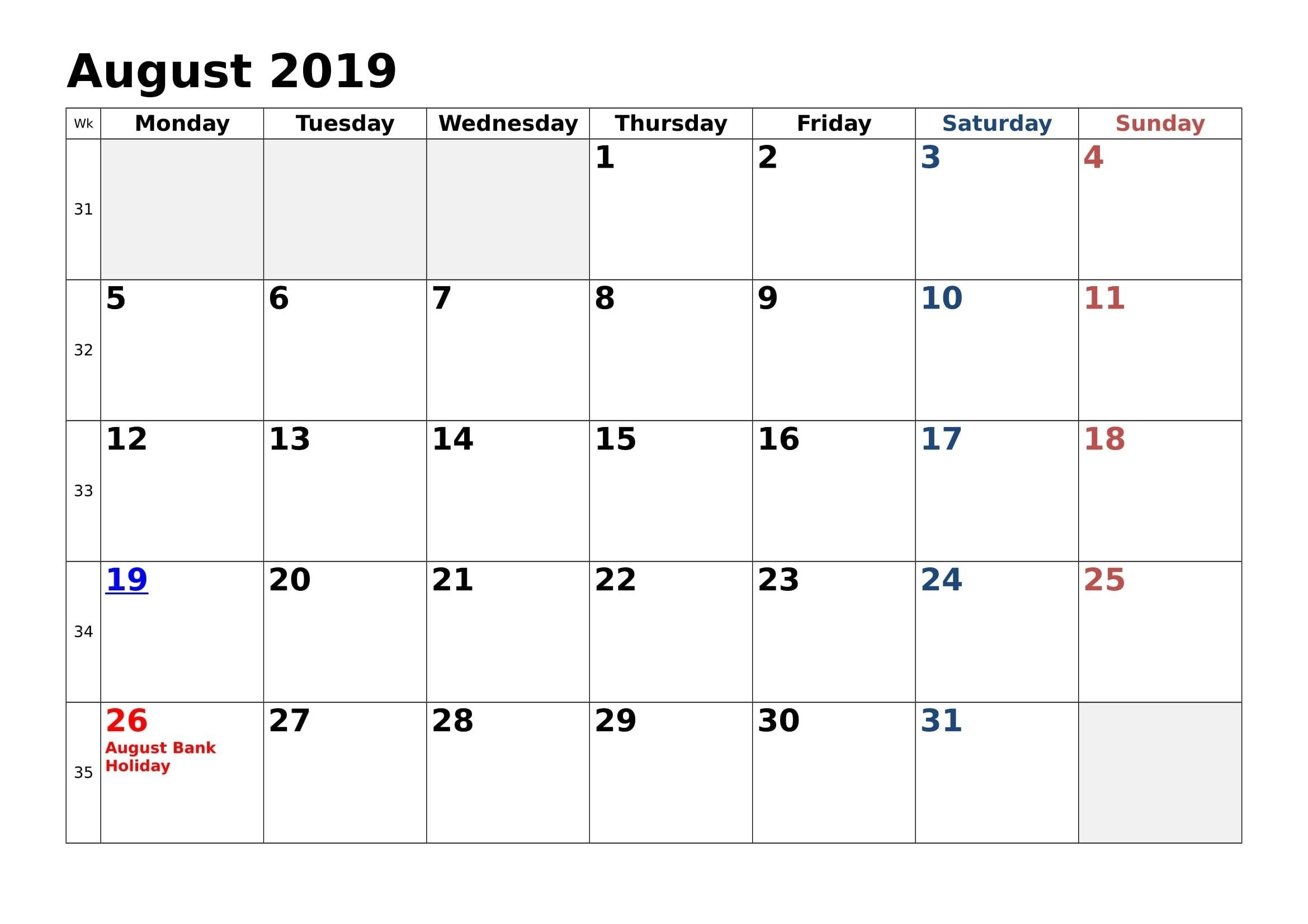 August 2019 Holidays Calendar August 2021 Calendar Nz