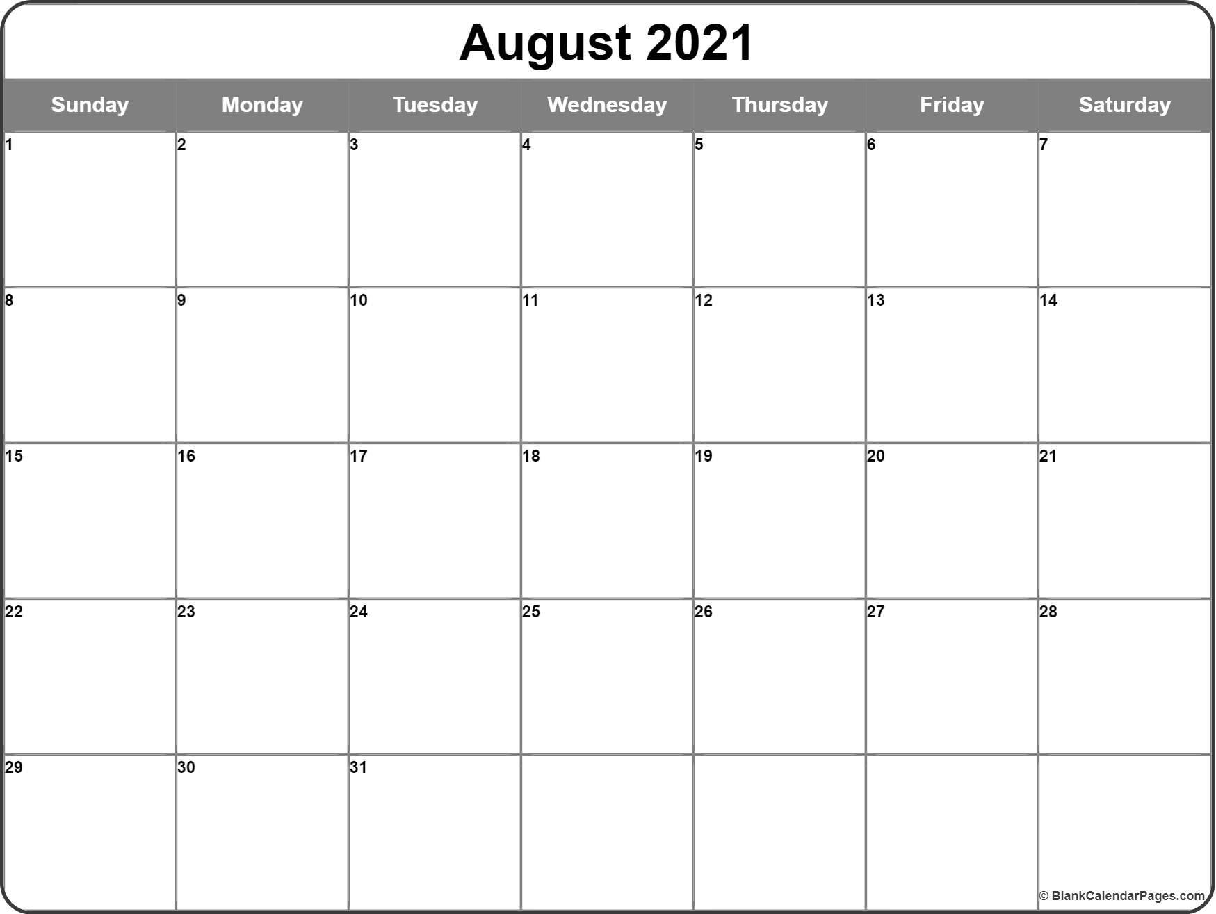 August 2021 Calendar   56+ Templates Of 2021 Printable Calendars August 2021 Calendar Images