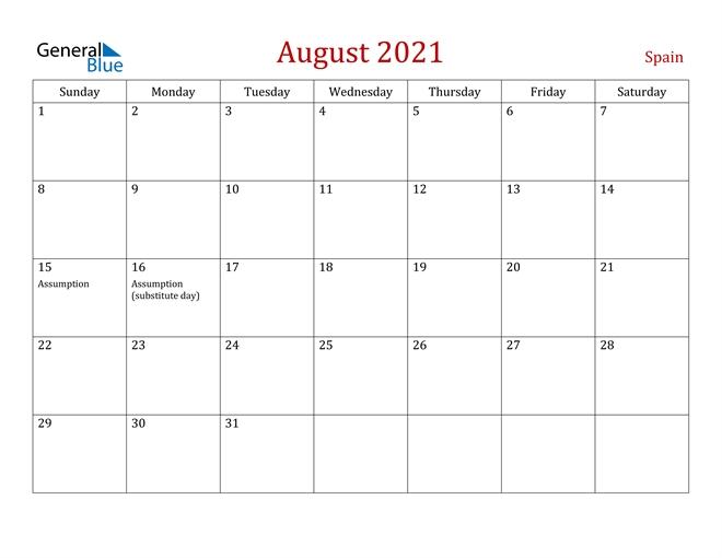 August 2021 Calendar - Spain Calendar Ortodox August 2021 Patriarhie
