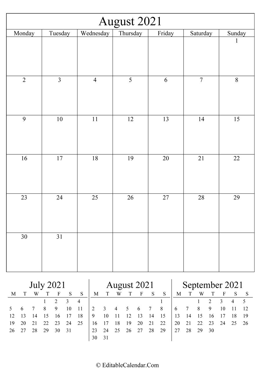 August 2021 Calendar Templates National Calendar October 2021