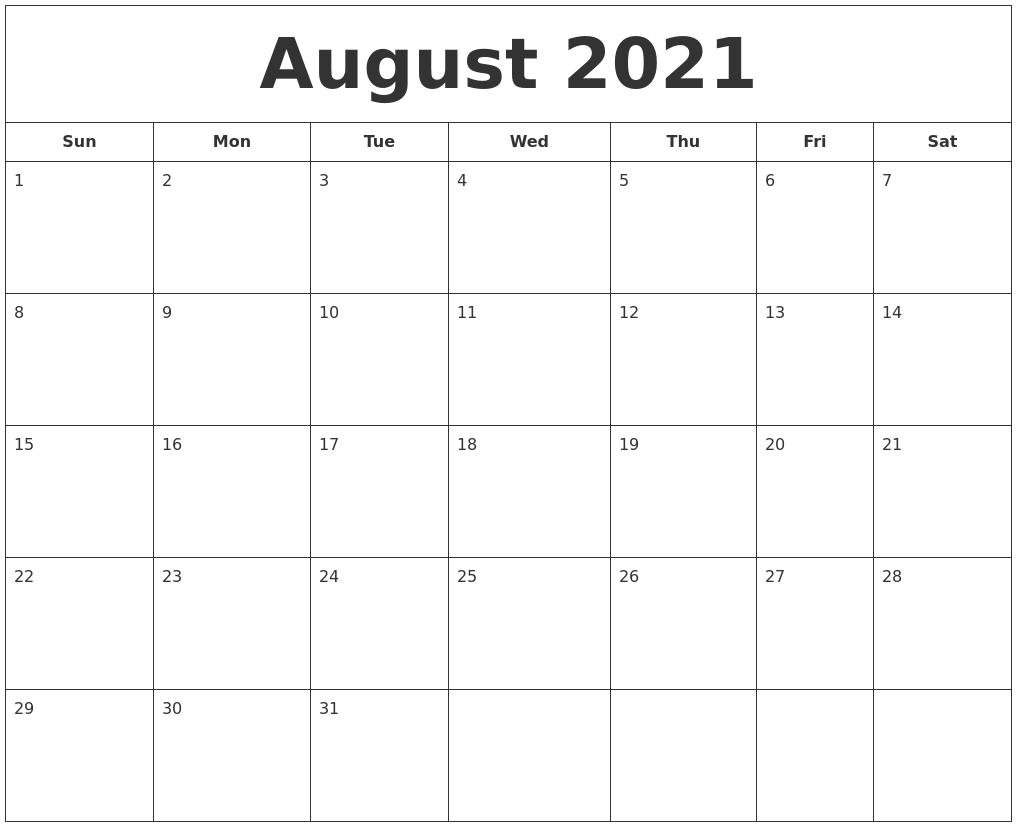 August 2021 Printable Calendar Calendar Ortodox August 2021 Patriarhie