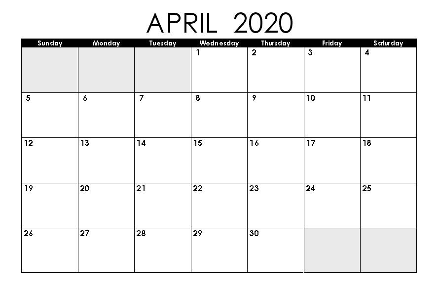 Beautiful April 2020 Printable Calendar - Calendar 2021 Calendar November 2020 To April 2021