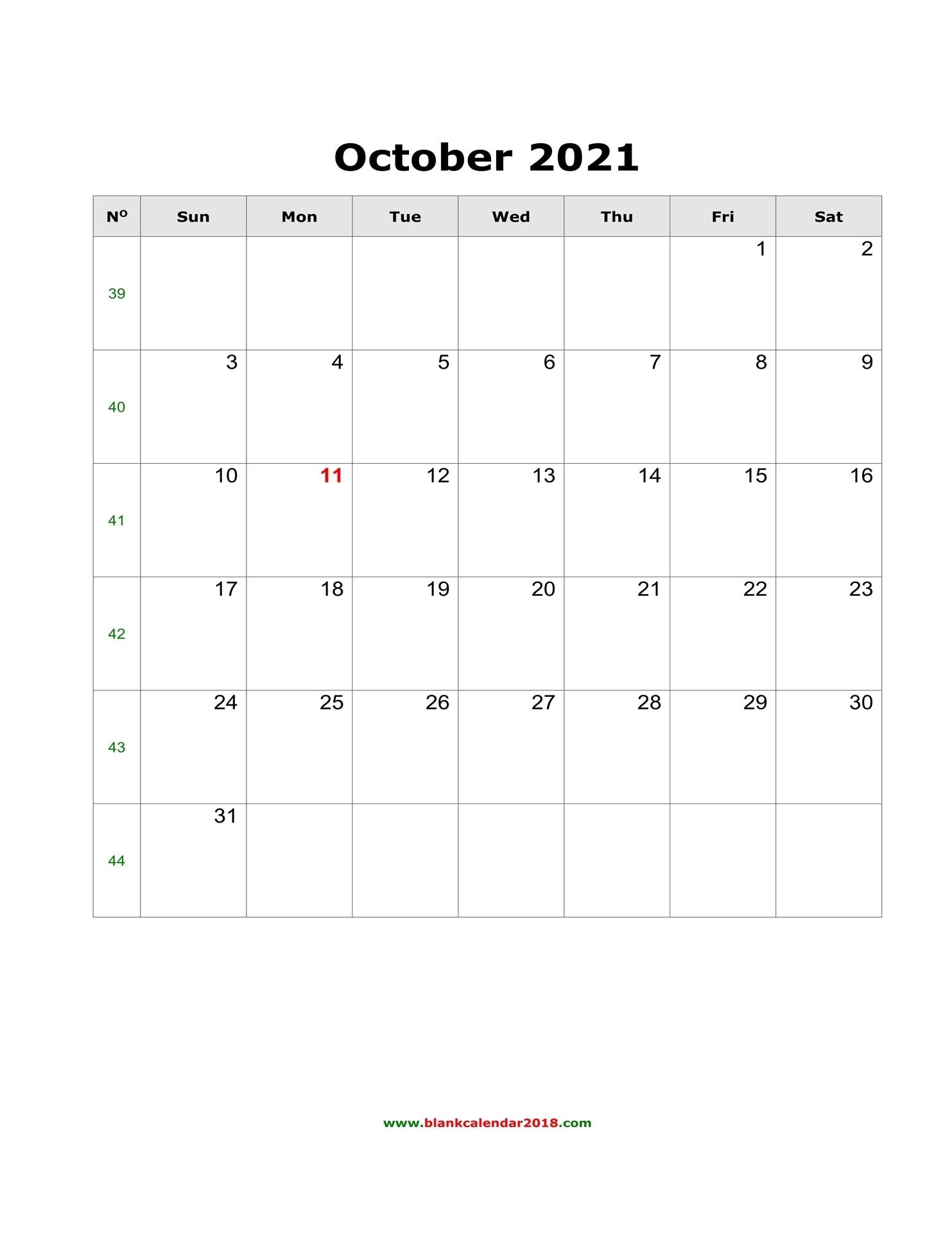 Blank Calendar For October 2021 October 2021 Chinese Calendar