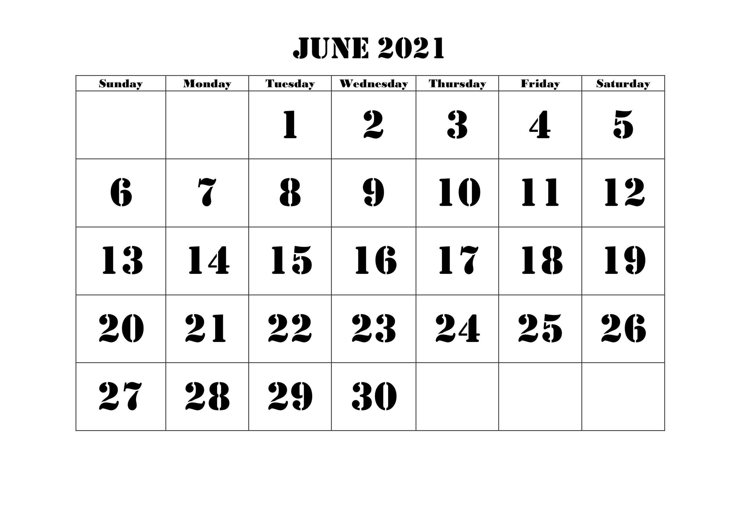 Blank June 2021 Calendar Make Schedule - Thecalendarpedia June 2021 Calendar Printable