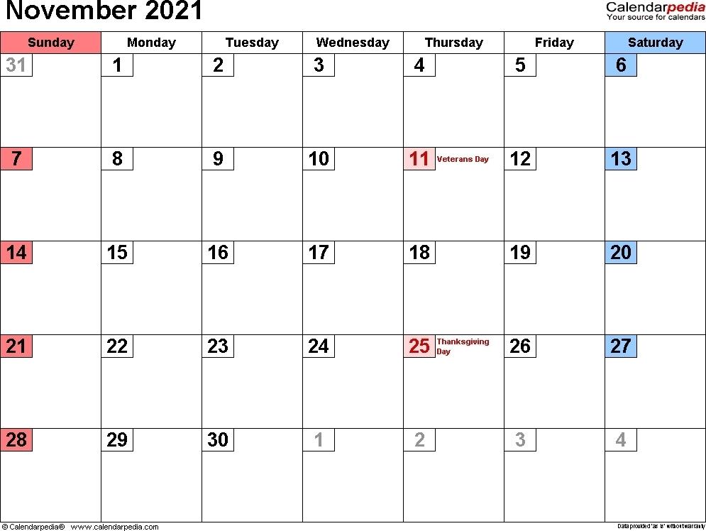Blank November 2021 Calendar | Calvert Giving Free November 2021 Calendar