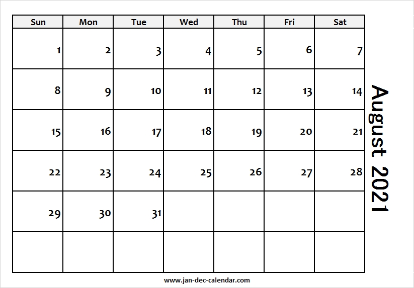 Blank Printable August Calendar 2021 Template Free Calendar Ortodox August 2021 Patriarhie