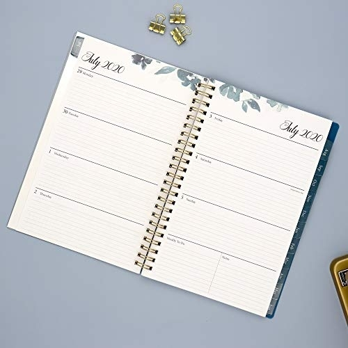 Blue Sky 2020-2021 Academic Year Weekly & Monthly Planner, Flexible Cover, Twin-Wire Binding, 5 Blue Sky Calendar July 2020-June 2021
