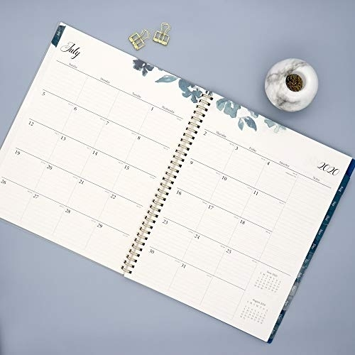 Blue Sky 2020-2021 Academic Year Weekly & Monthly Planner, Frosted Flexible Cover, Twin-Wire Blue Sky Calendar July 2020-June 2021