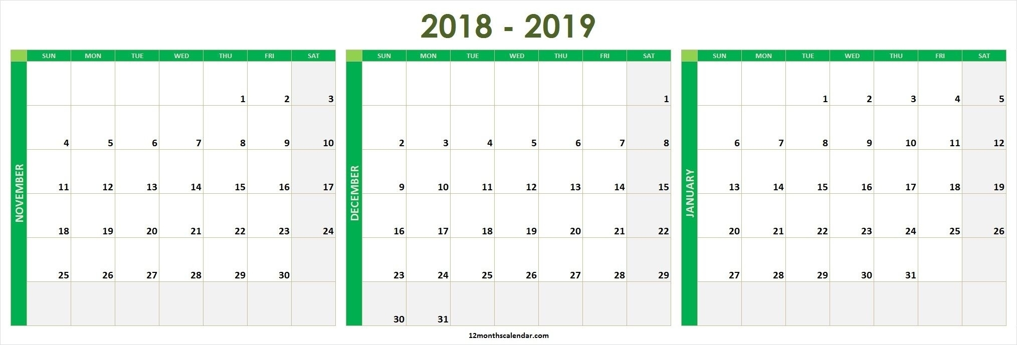 Calendar 2021 December January 2020 | Avnitasoni November December 2020 January 2021 Calendar