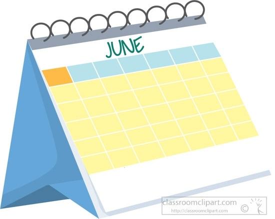 Calendar Clipart - Monthly-Desk-Calendar-June-White-Clipart - Classroom Clipart June 2021 Calendar Clipart