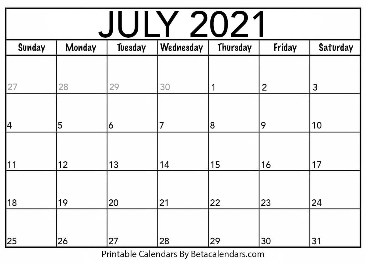 Calendar July 2021 | Calendar Printables Free Templates Blank July 2021 Calendar Printable