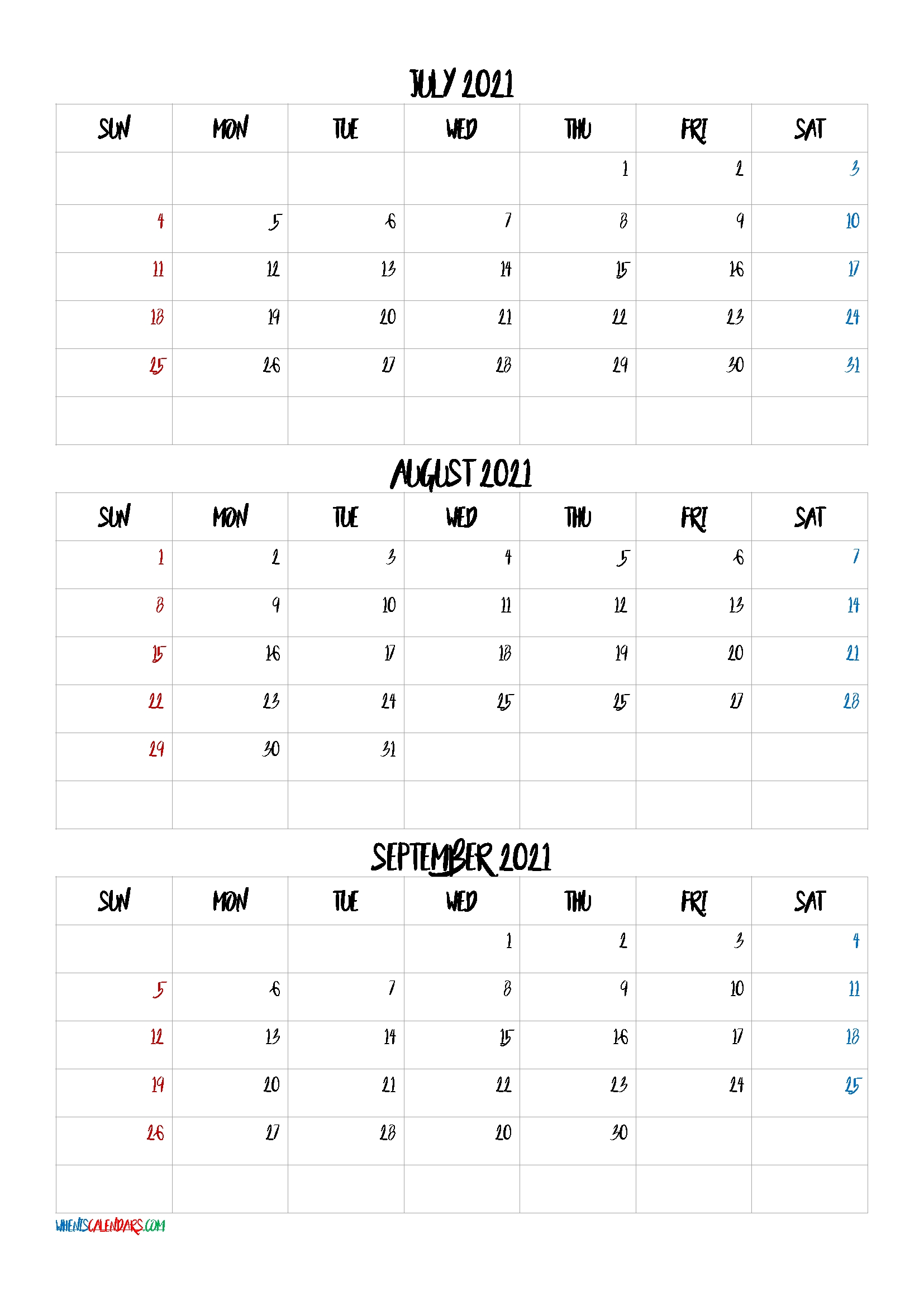 Calendar July August September 2021 | Lunar Calendar September 2021 Lunar Calendar