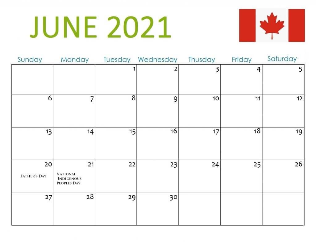 Canada Holidays 2021 Calendar June 2021 Calendar With Holidays Usa