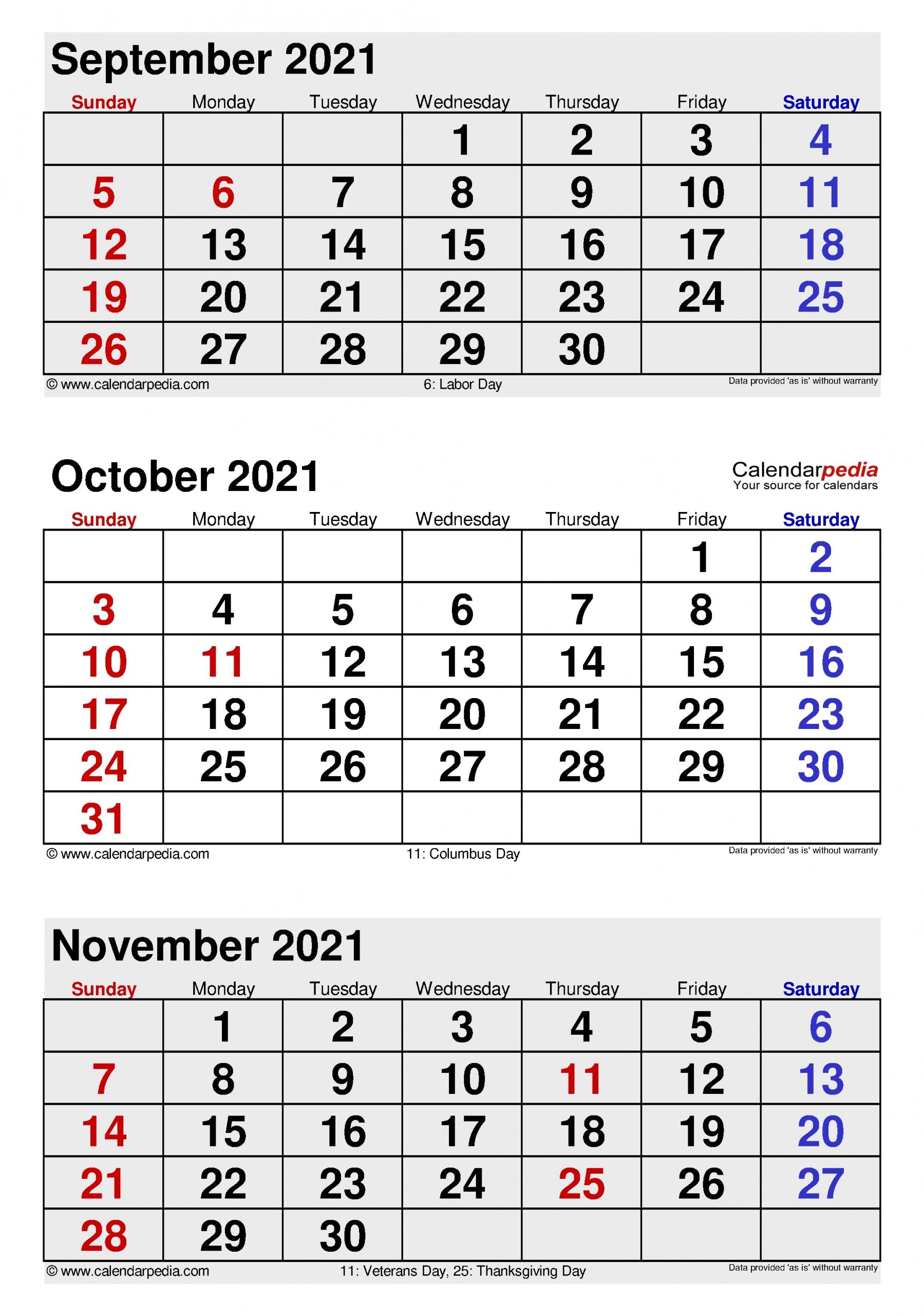Collect Calendar August September October 2021 - Best Calendar Example September And October 2021 Calendar