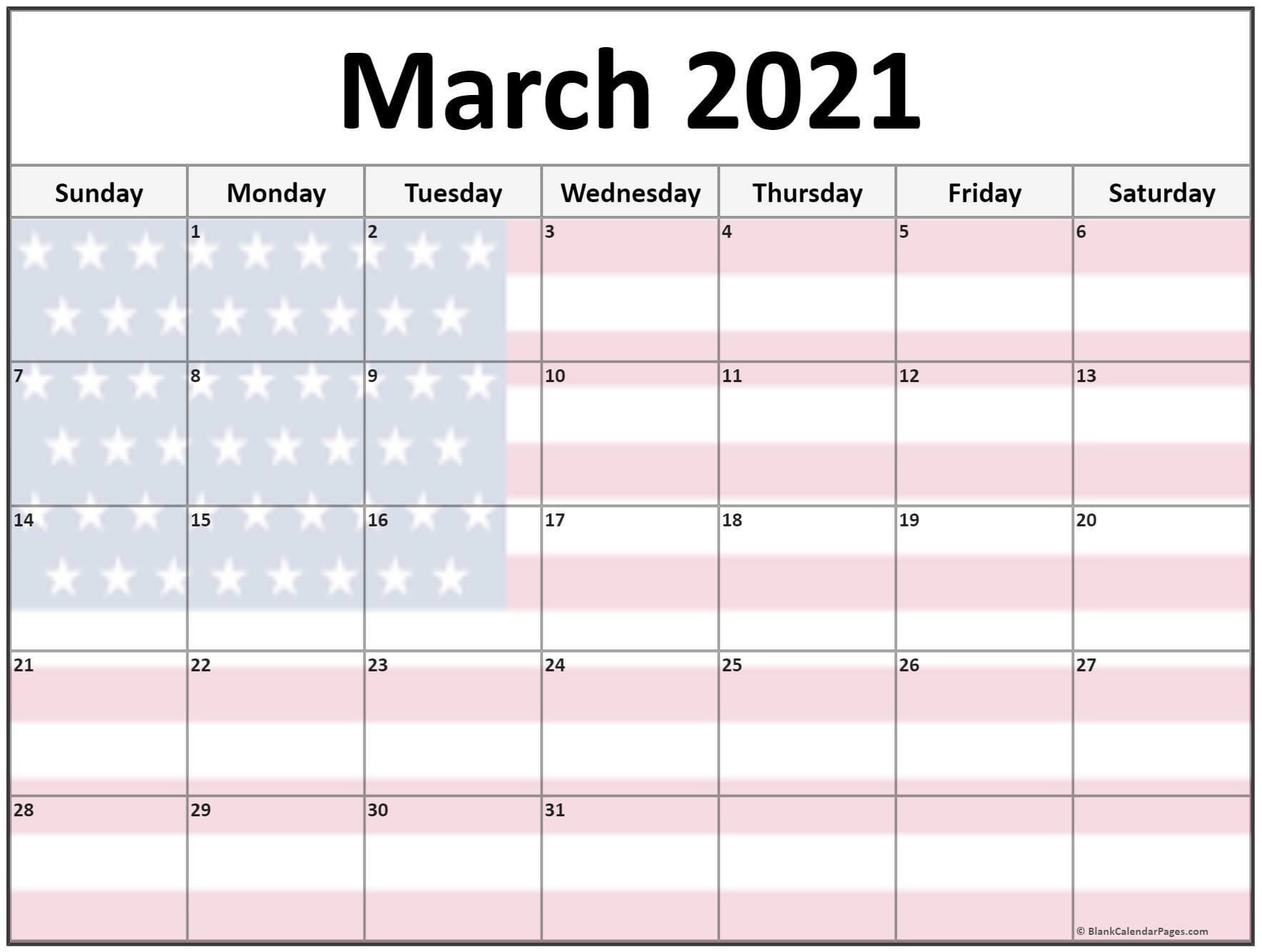 Collection Of March 2021 Photo Calendars With Image Filters. July 2021 Calendar Canada Printable