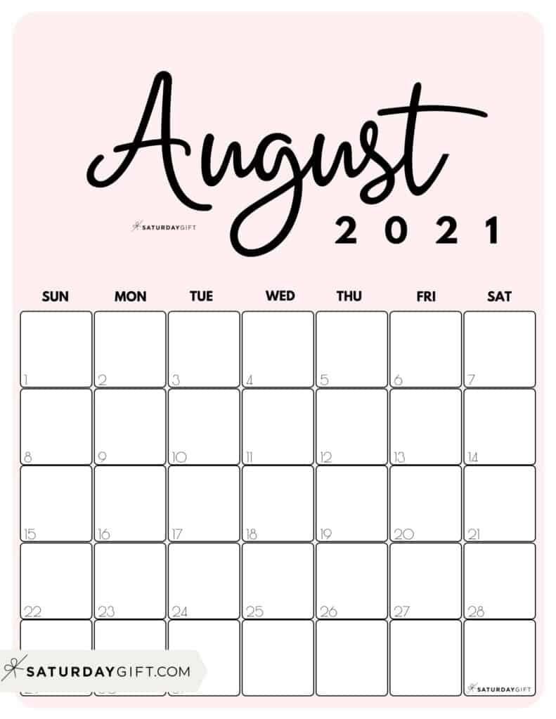 Cute (& Free!) Printable August 2021 Calendar   Saturdaygift Calendar Ortodox August 2021 Patriarhie
