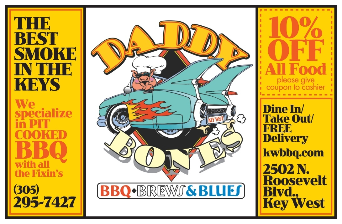 Daddy Bones | Key West / Florida Keys Money Saving Discount Coupons Key West Calendar Of Events July 2021