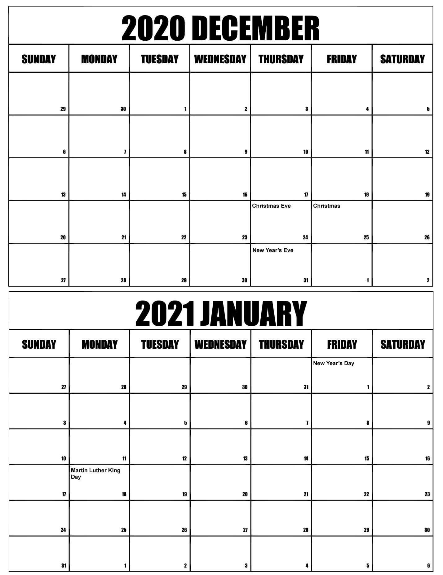 December 2020 January 2021 Calendar Word   Free Printable Calendar Shop Printable January Through December 2021 Calendar