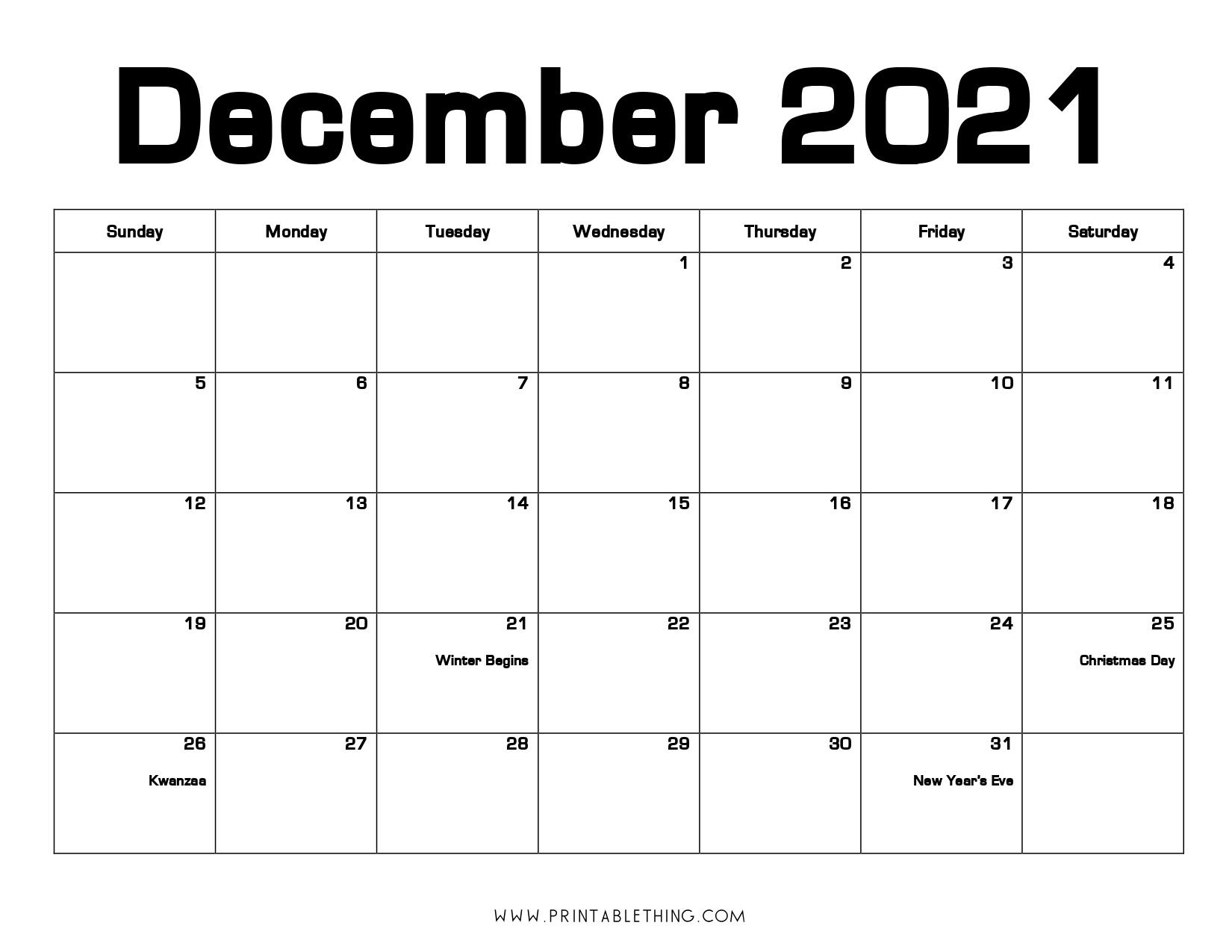 December 2021 Calendar Pdf, December 2021 Calendar Image Print December 2021 Calendar Printable