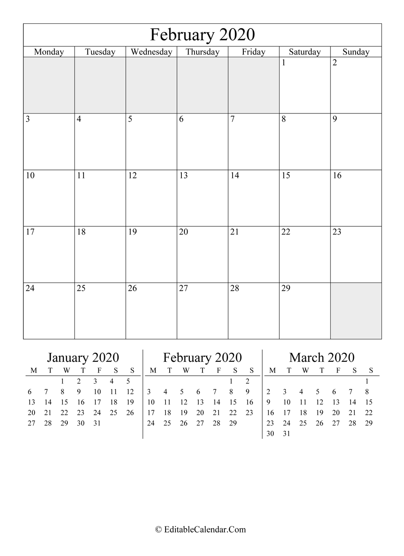 Editable Calendar February 2020 June 2021 Calendar Copy And Paste