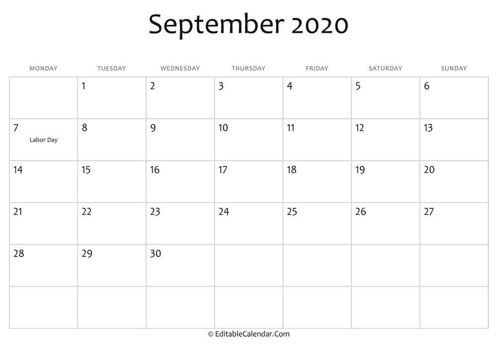 Editable Calendar September 2020 June 2021 Calendar Copy And Paste