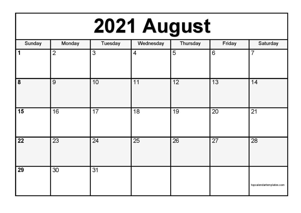 Free August 2021 Printable Calendar - Monthly Templates Calendar Ortodox August 2021 Patriarhie