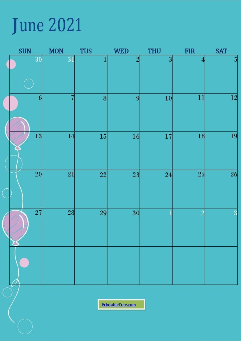 Free Download June 2021 Printable Calendar Templates Pdf What Will Happen In June 2021