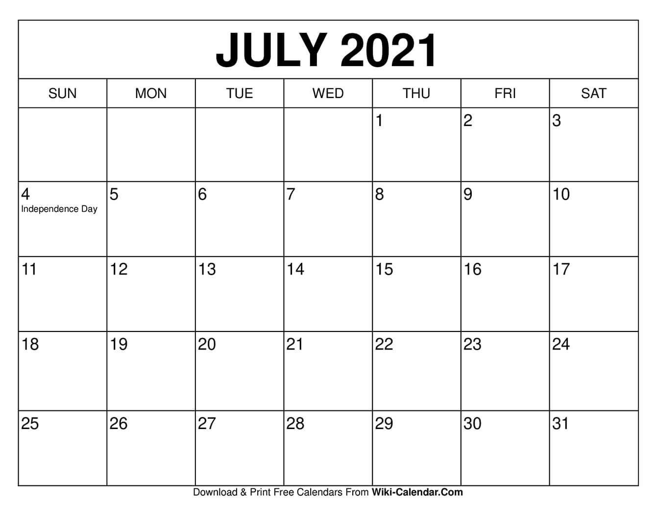 Free Fillable Calendars 2021   Calendar Template Printable July 2021 Tithi Calendar